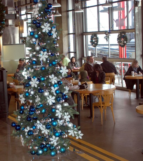 You can't help but really get into the Christmas spirit after a meal at the All Day Cafe.